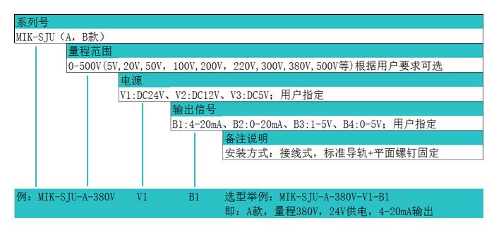 米科MIK-SJU三相交流电压变送器隔离电压传感器产品选型