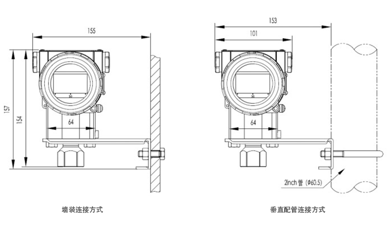 MIK-P3000表压/绝压变送器尺寸