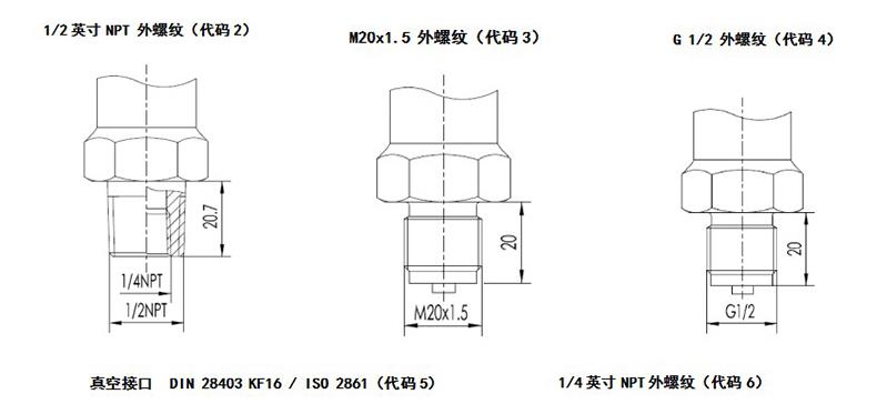 MIK-P3000表压/绝压变送器过程连接2