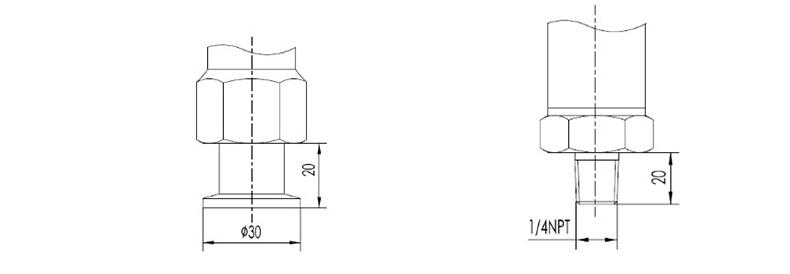 MIK-P3000表压/绝压变送器过程连接3