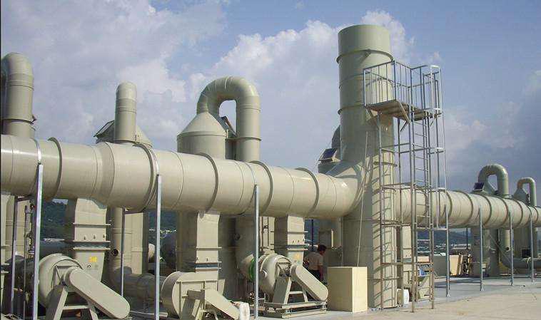 工业废气处理现场图