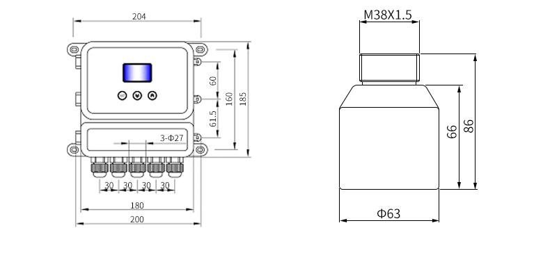MIK-DFG超声波德赢vwin体育平台尺寸2