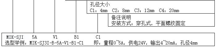 MIK-SJI产品型号