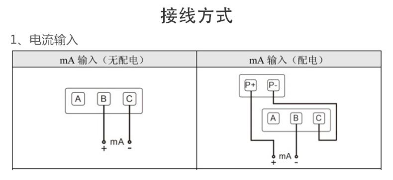 MIK-R9600记录仪电流输入接线