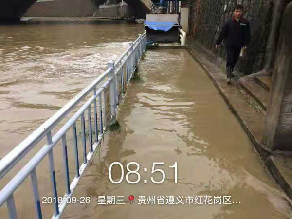 米科电磁流量计已被大水完全淹没