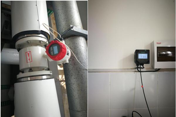 米科电磁流量计和在线ph计在污水处理现场