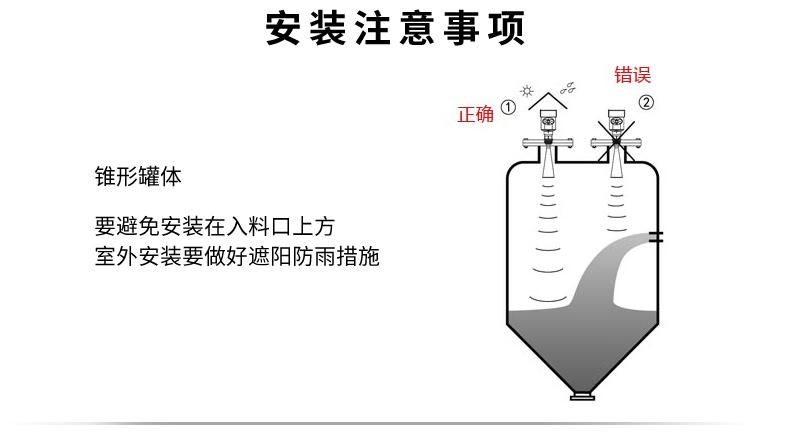 米科雷达液位计安装注意事项