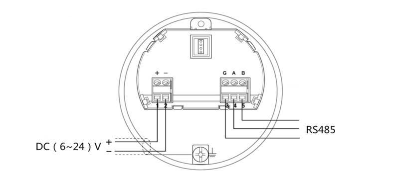 米科雷达液位计24V电源接线