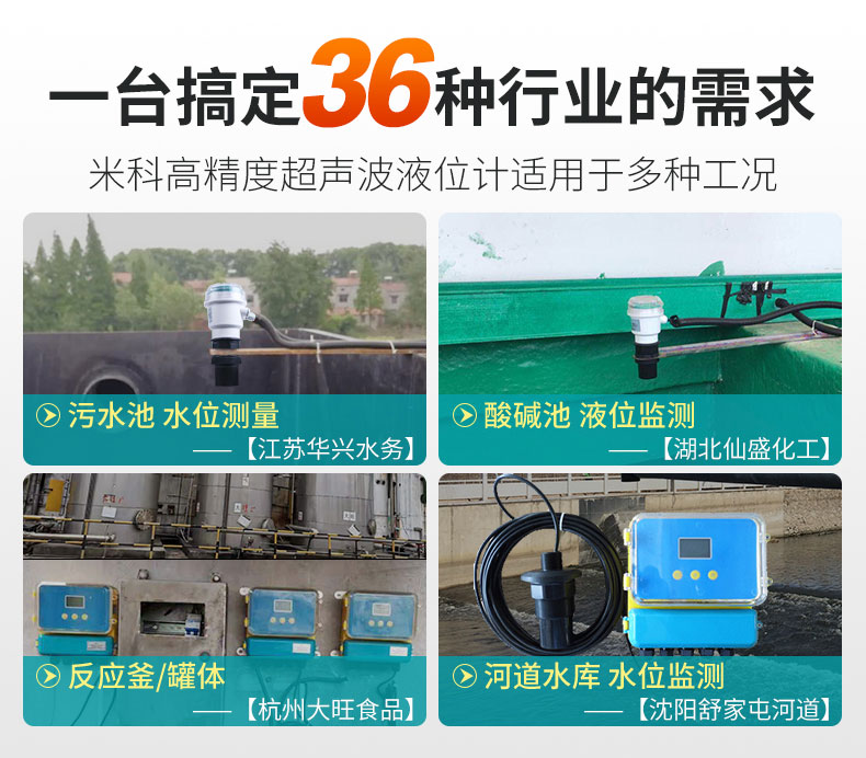 MIK-DP超声波液位计使用场合